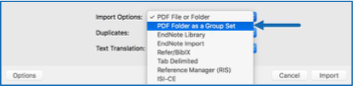 PDF folder as a group set