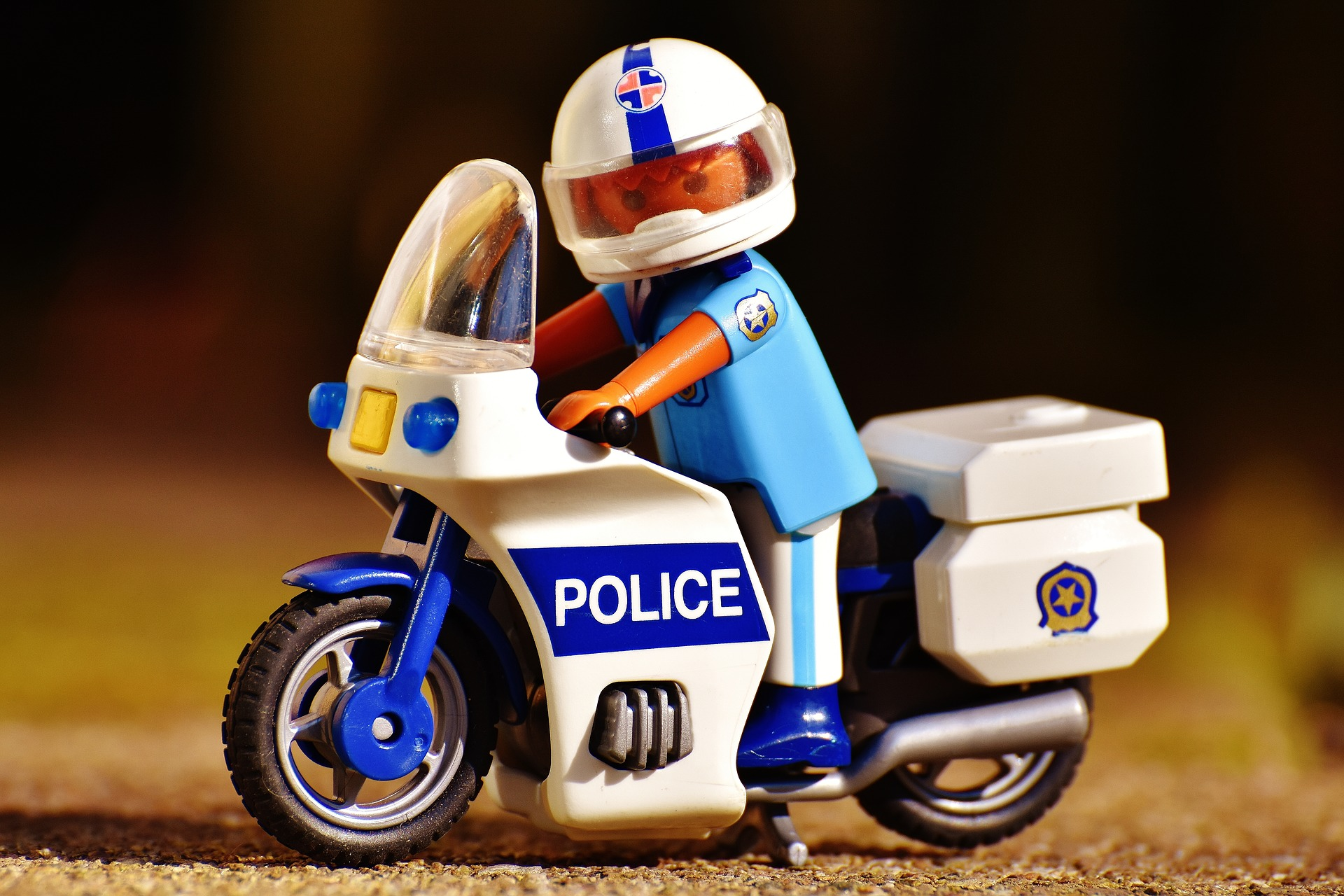 police on motorcycle