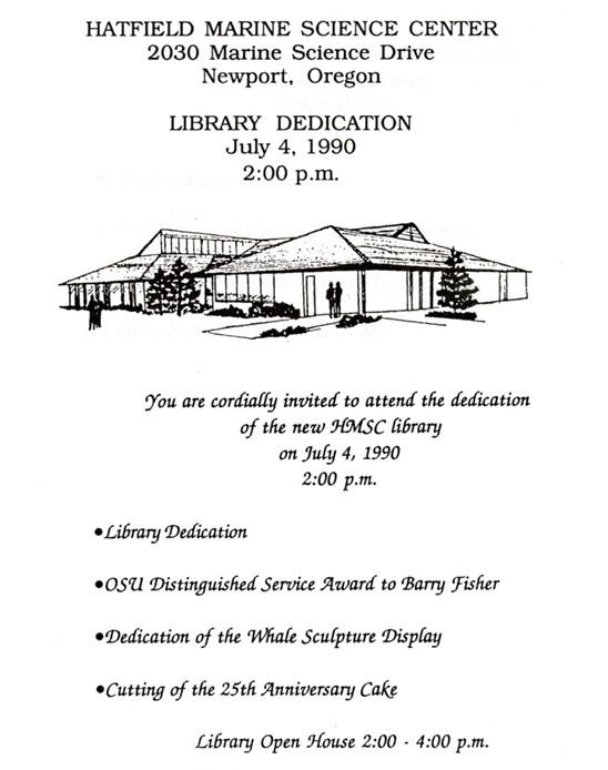 Guin Library Dedication Ceremony Program July 4, 1990