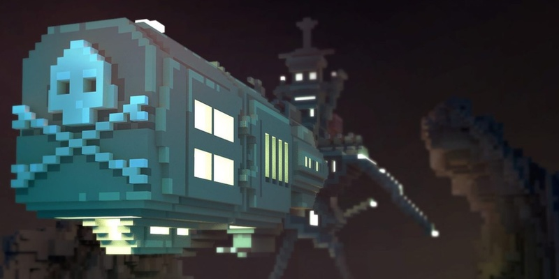 MagicaVoxel Spaceship