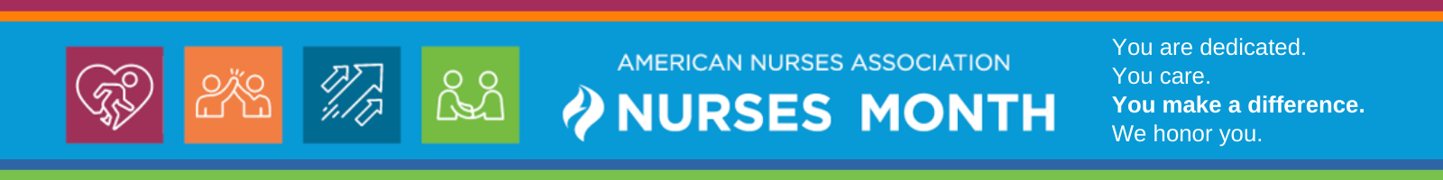 Banner celebrating ANA nurses month