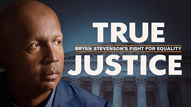 screen image from the opening scene of the documentary True Justice: Bryan Stevenson's Fight for Equality