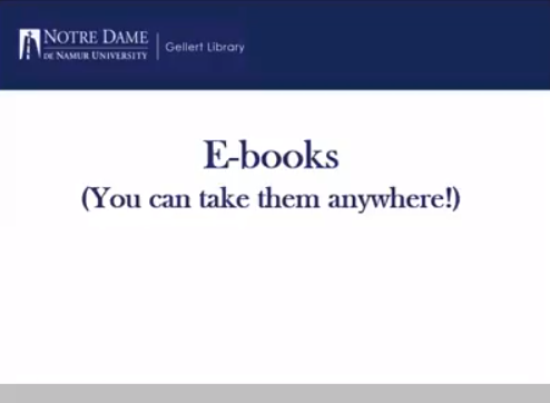 Finding ebooks tutorial
