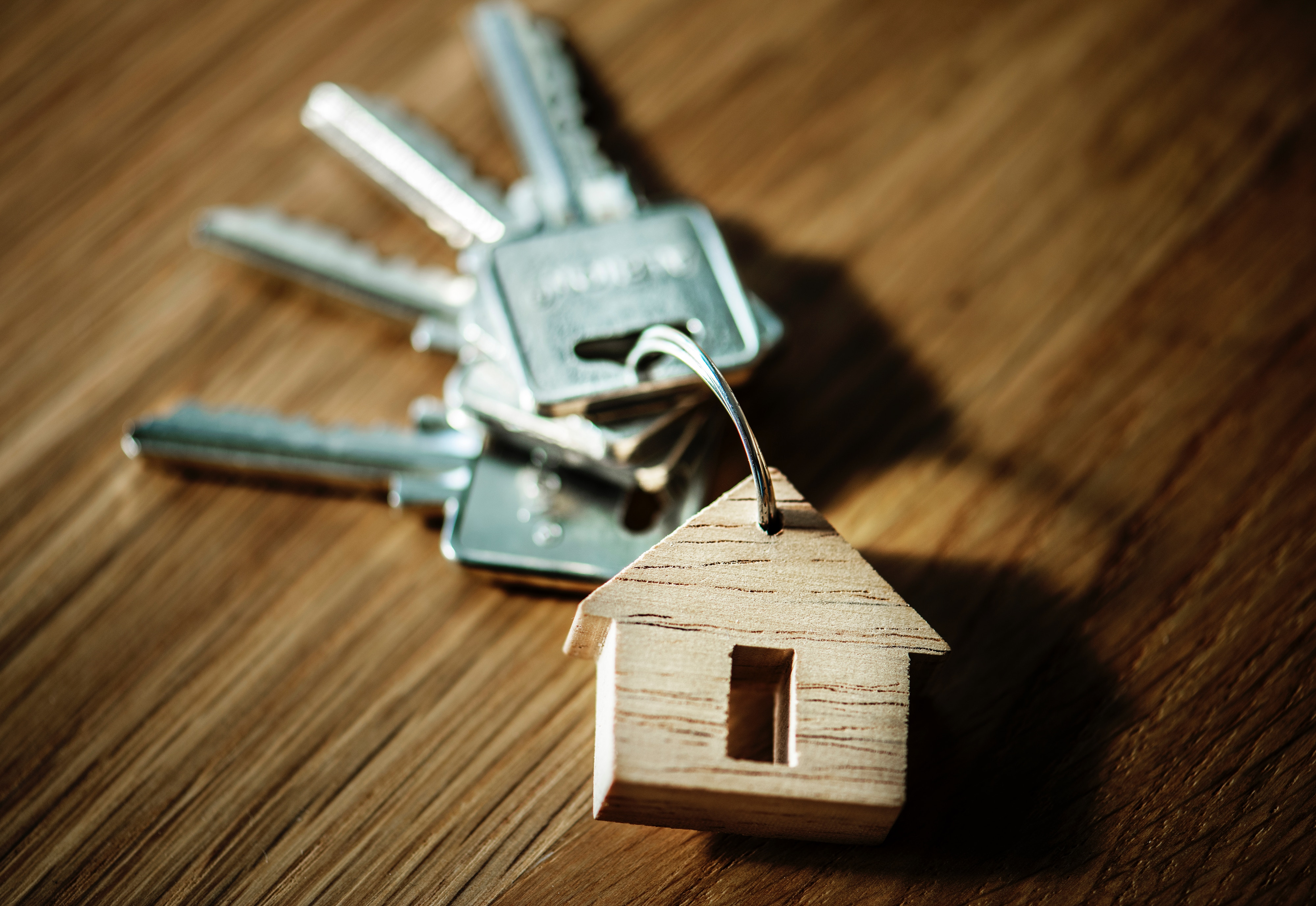 keys with house keyring