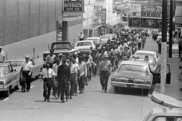 Civil Rights march, Hattiesburg, Mississippi 1966