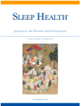 Sleep Health journal cover.