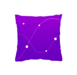A purple pillow icon.