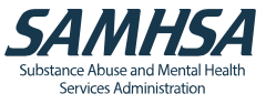Substance Abuse and Mental Health Services logo.