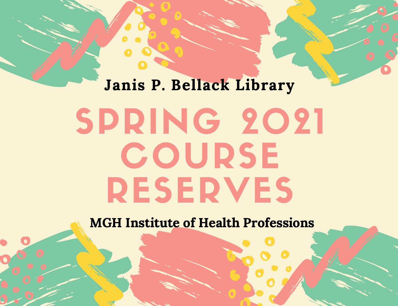Spring 2021 Course Reserves banner