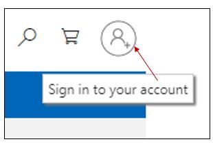 Microsoft log-in icon