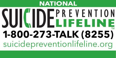 National Suicide Prevention Lifeline logo and link