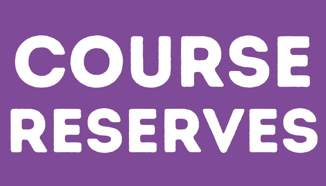Course Reserves page link image purple background