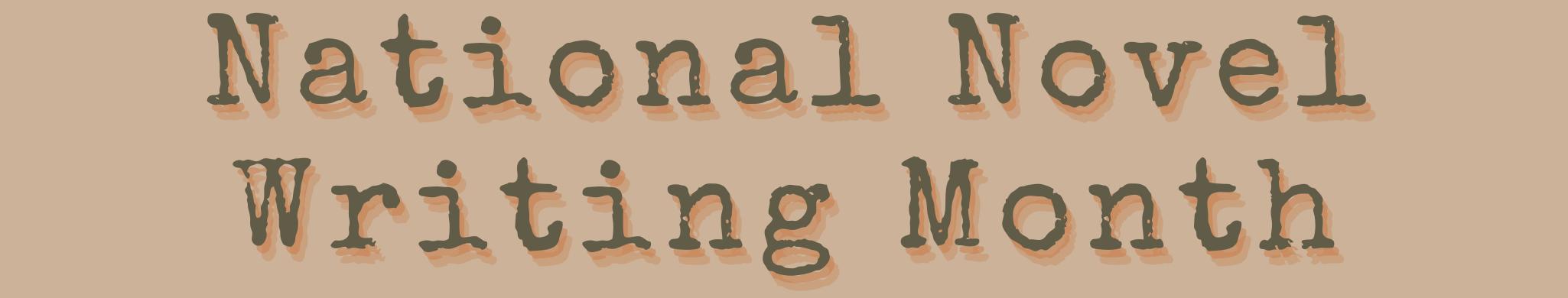 novel writing month
