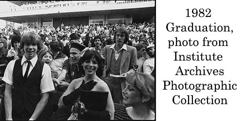 1982 Graduation, Institute Archives Photographic Collection