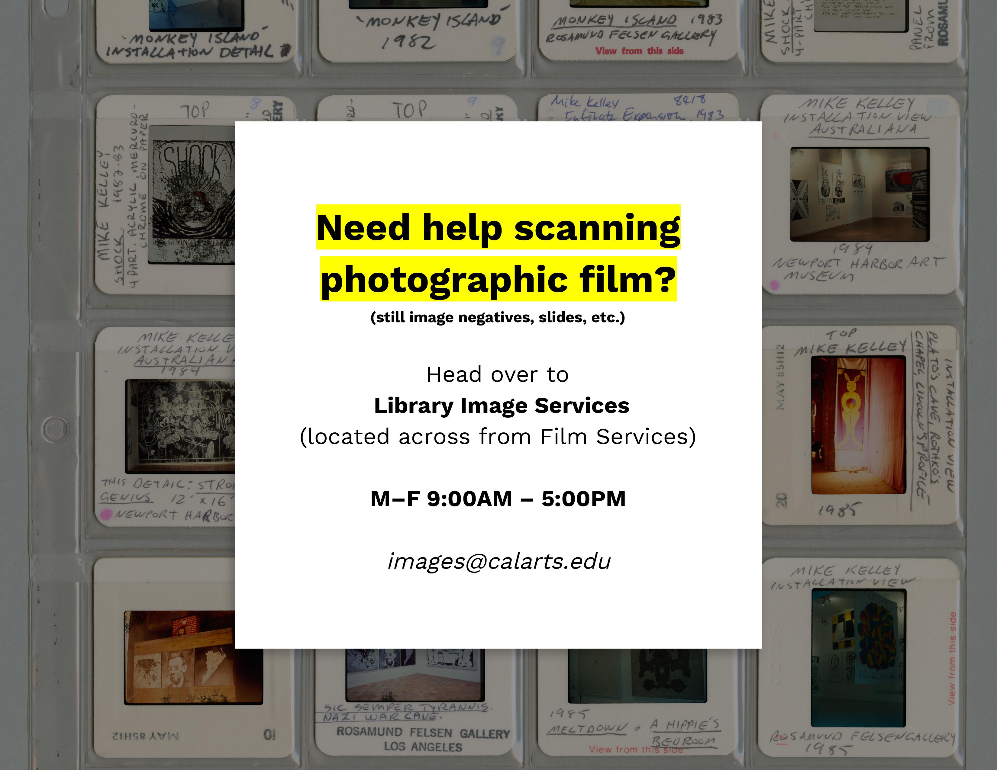 Film Scanning Assistance