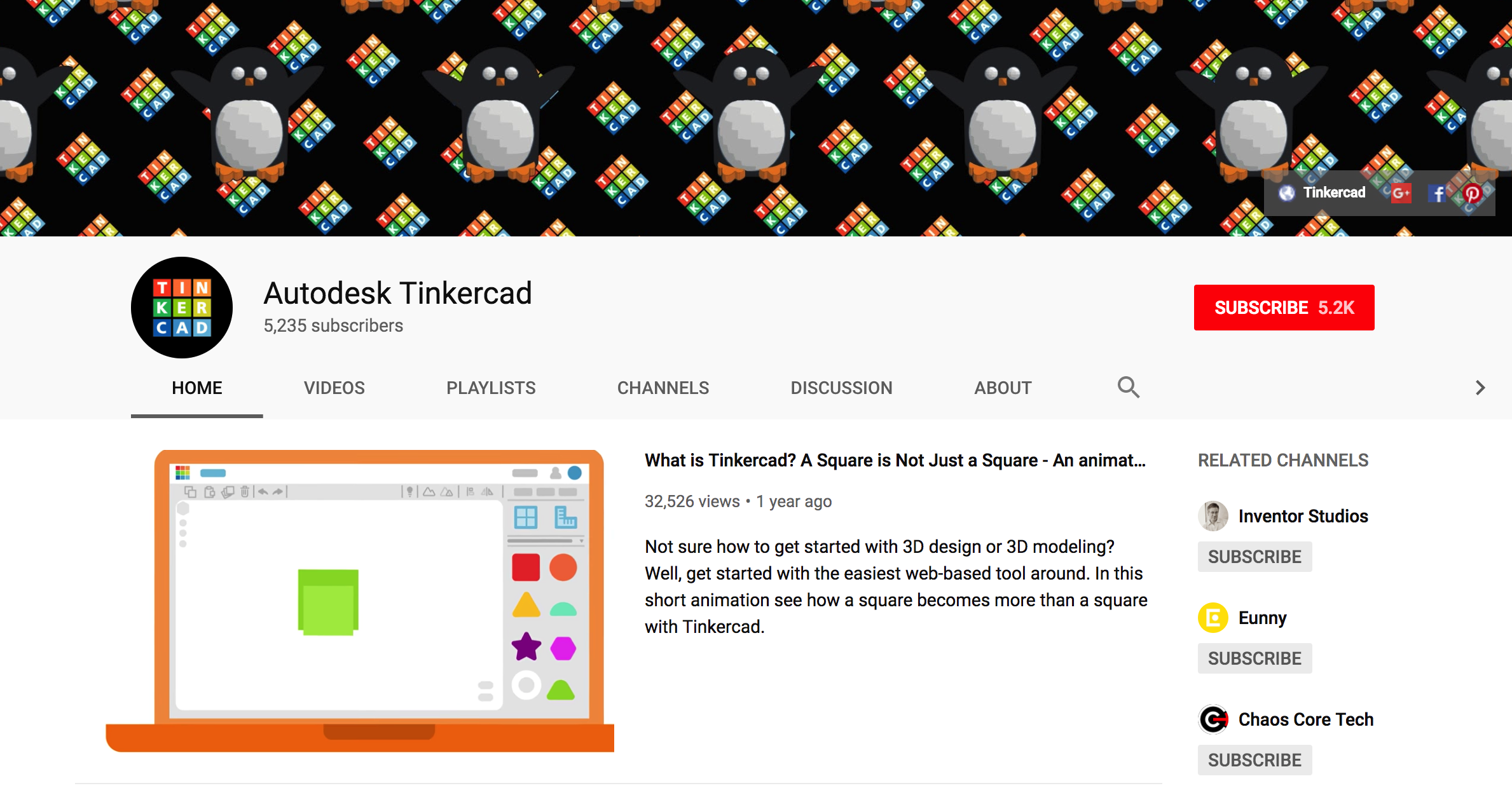 Tinkercad YouTube Channel