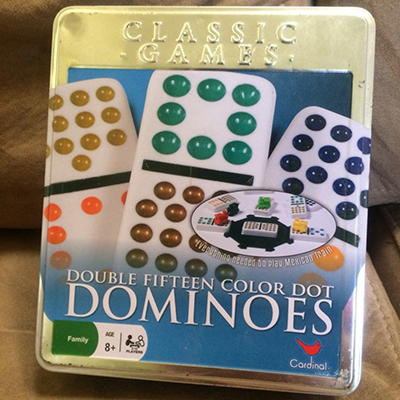 Double Fifteen Color Dot Dominoes