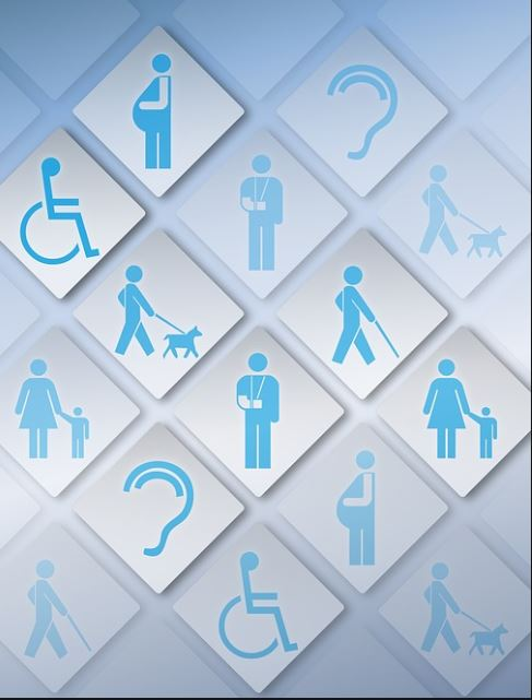 Illustration of different kinds of accessibility symbols