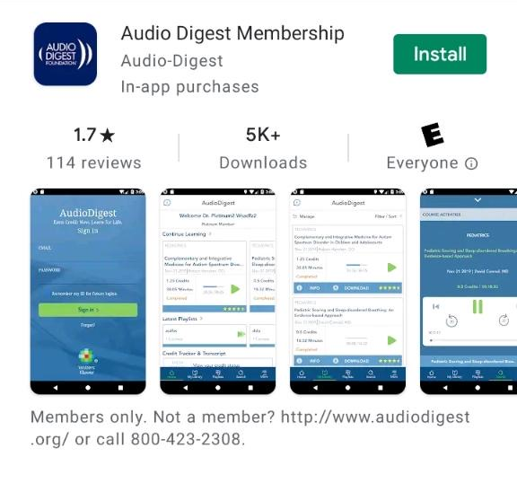 Audio Digest Android OS mobile app