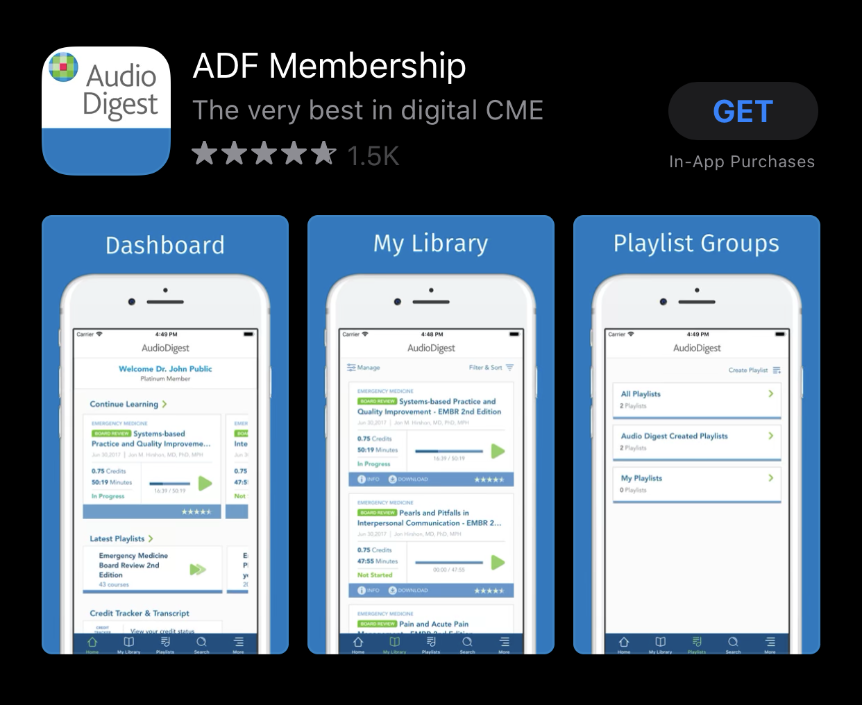 Audio Digest Apple iOS mobile app