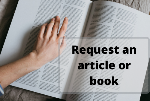request article or book logo from library homepage