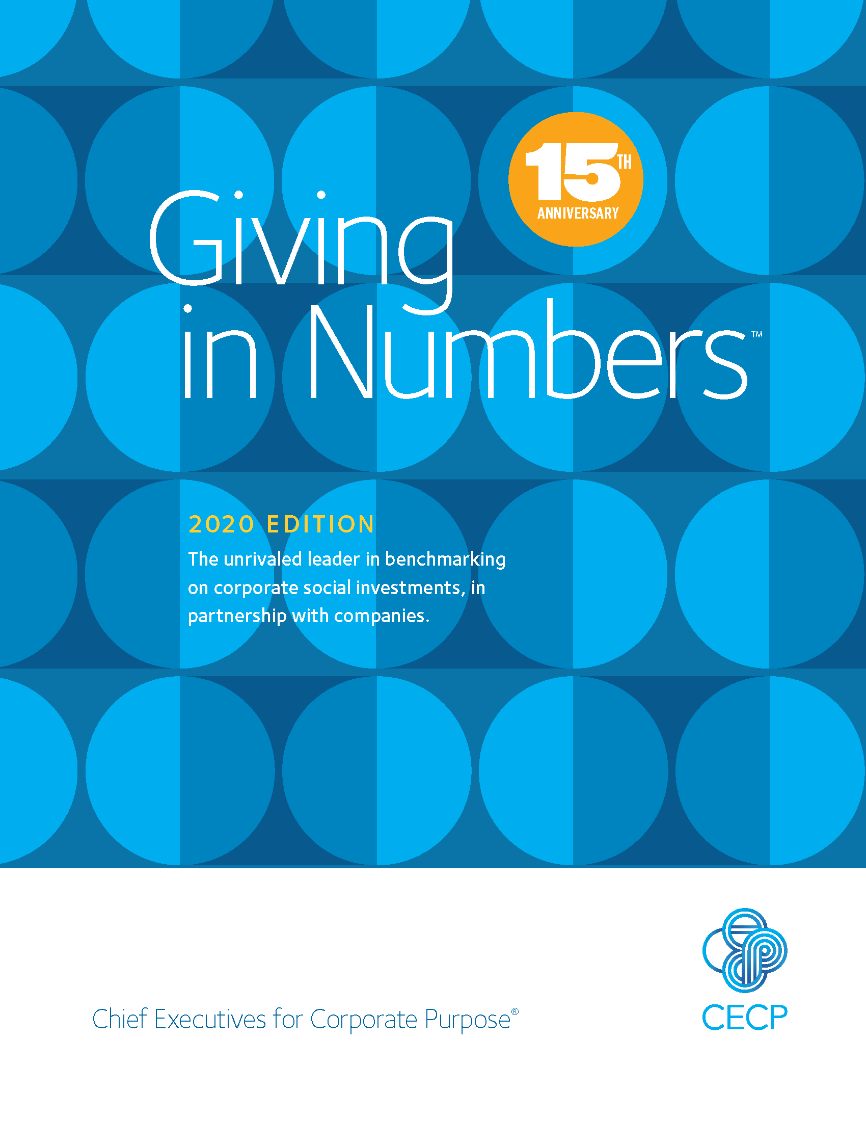 Cover of 2020 Giving in Numbers Report