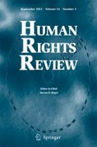 Cover of issue of Human Rights Review, a journal