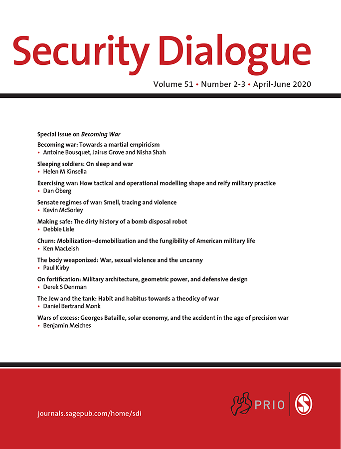 Cover of Security Dialogue journal