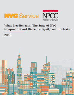 Cover of 2018 report on NYC's nonprofit board diversity, equity and inclusion