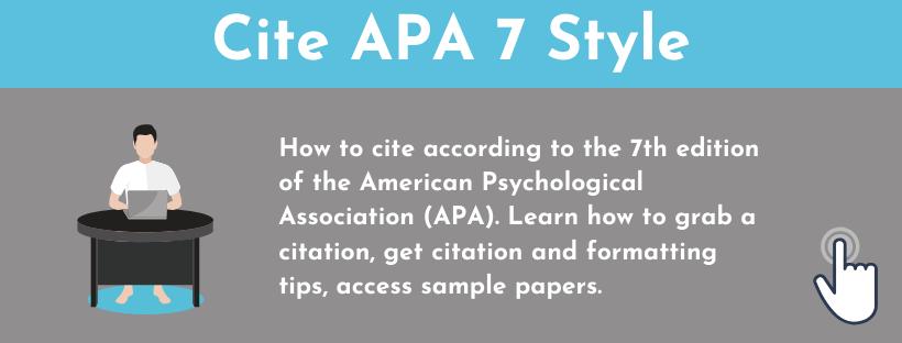 Cite APA 7 Style!