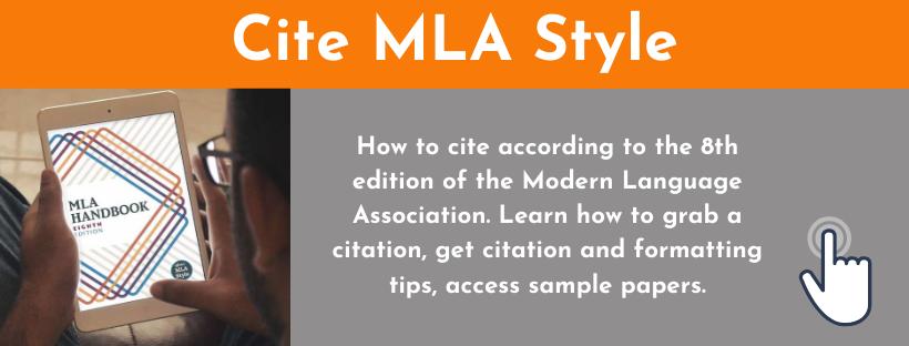Cite MLA Style