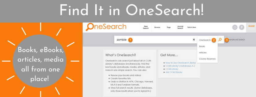Find It in OneSearch!