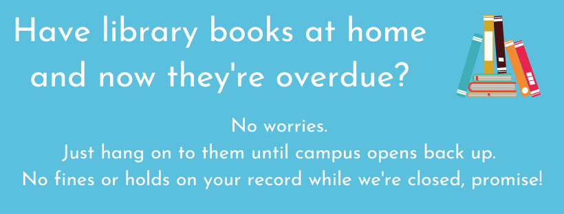 Have library books at home and now they're overdue? No Worries!