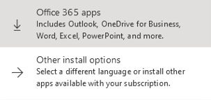 Select: Download Office 365 apps