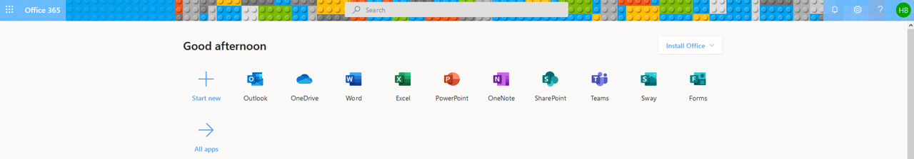 Office 365 - Install Office button