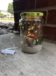 Jar with fairy lights