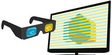 3-D Television and Glasses