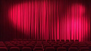 Movie Theater with Curtain