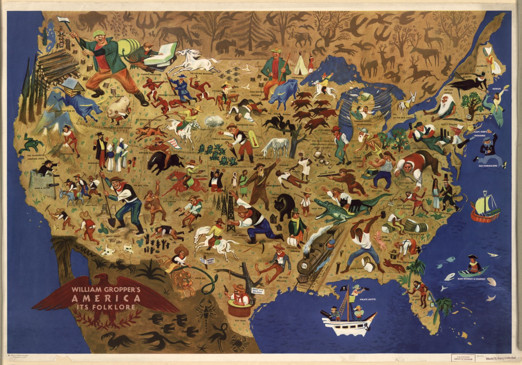 American Folklore Map
