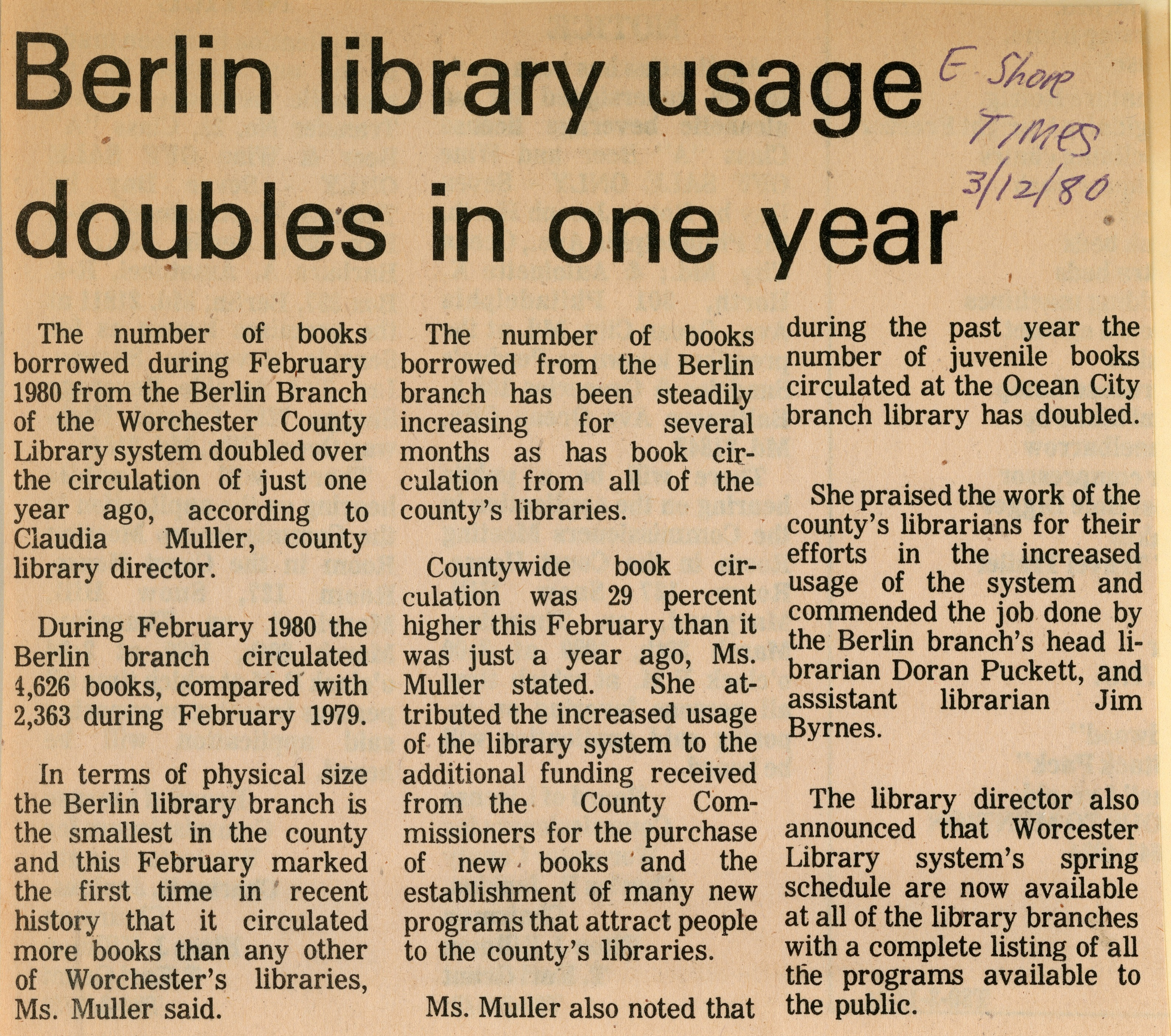 Berlin Library Usage Doubles