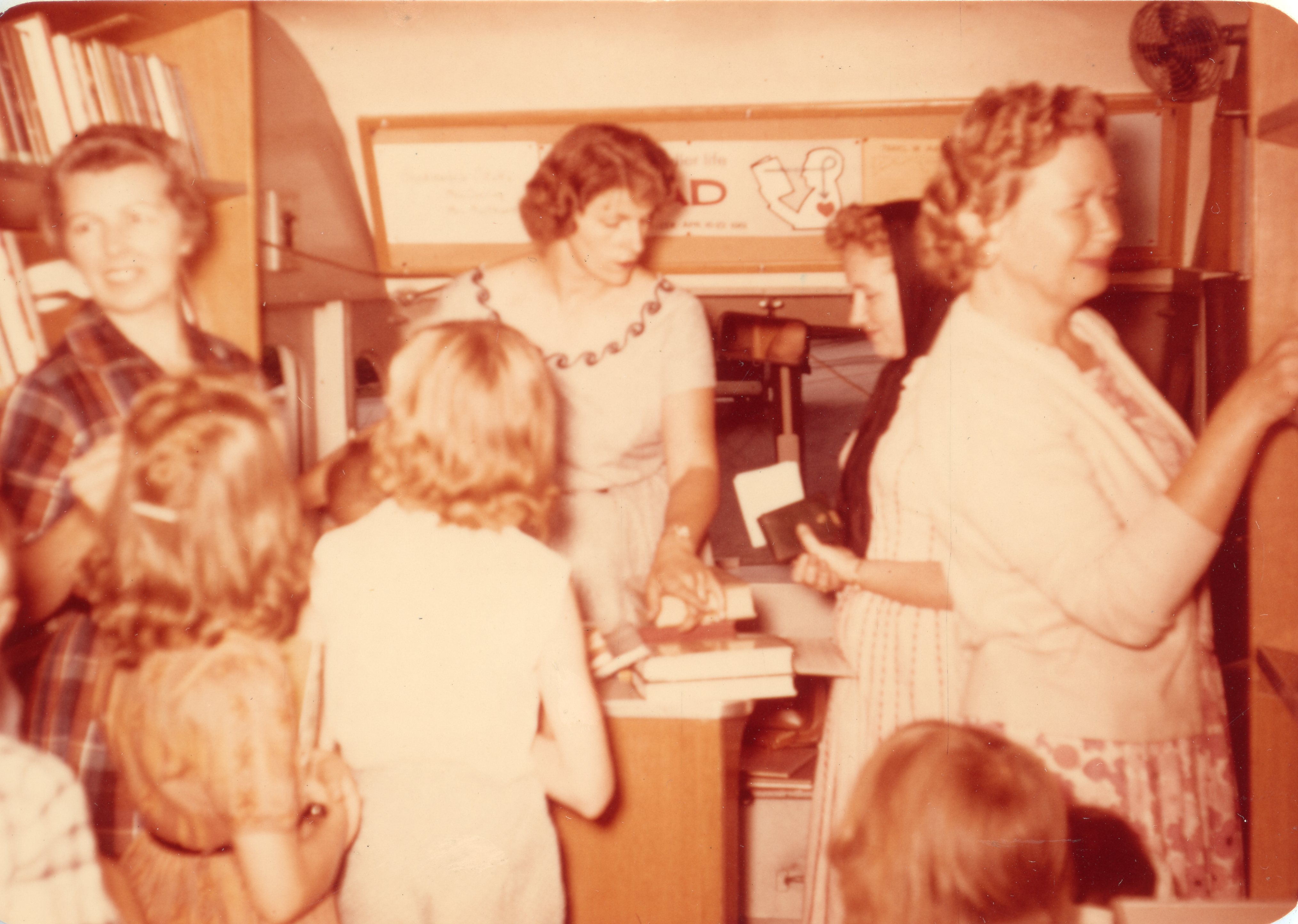 1962 inside the first Bookmobile