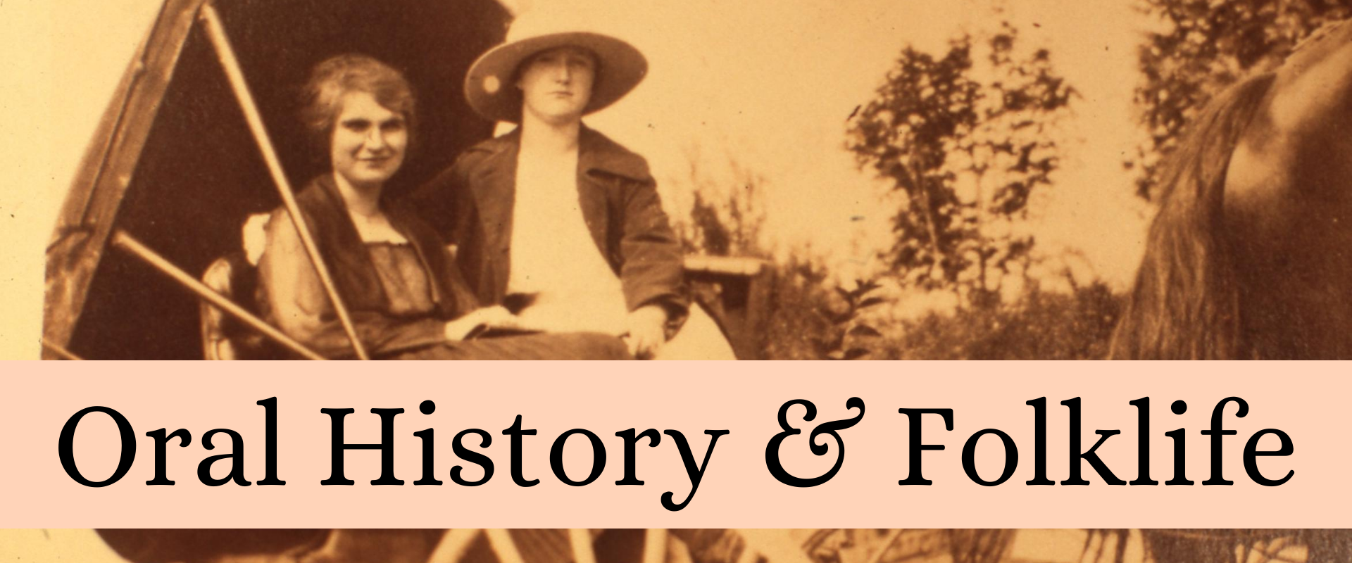 Oral History & Folklife Cover Photograph