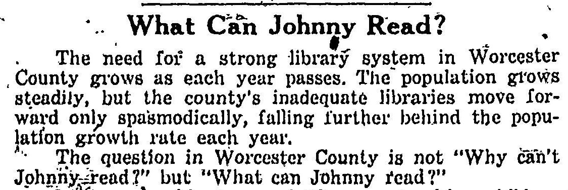 What Can Johnny Read? In support of a Library System