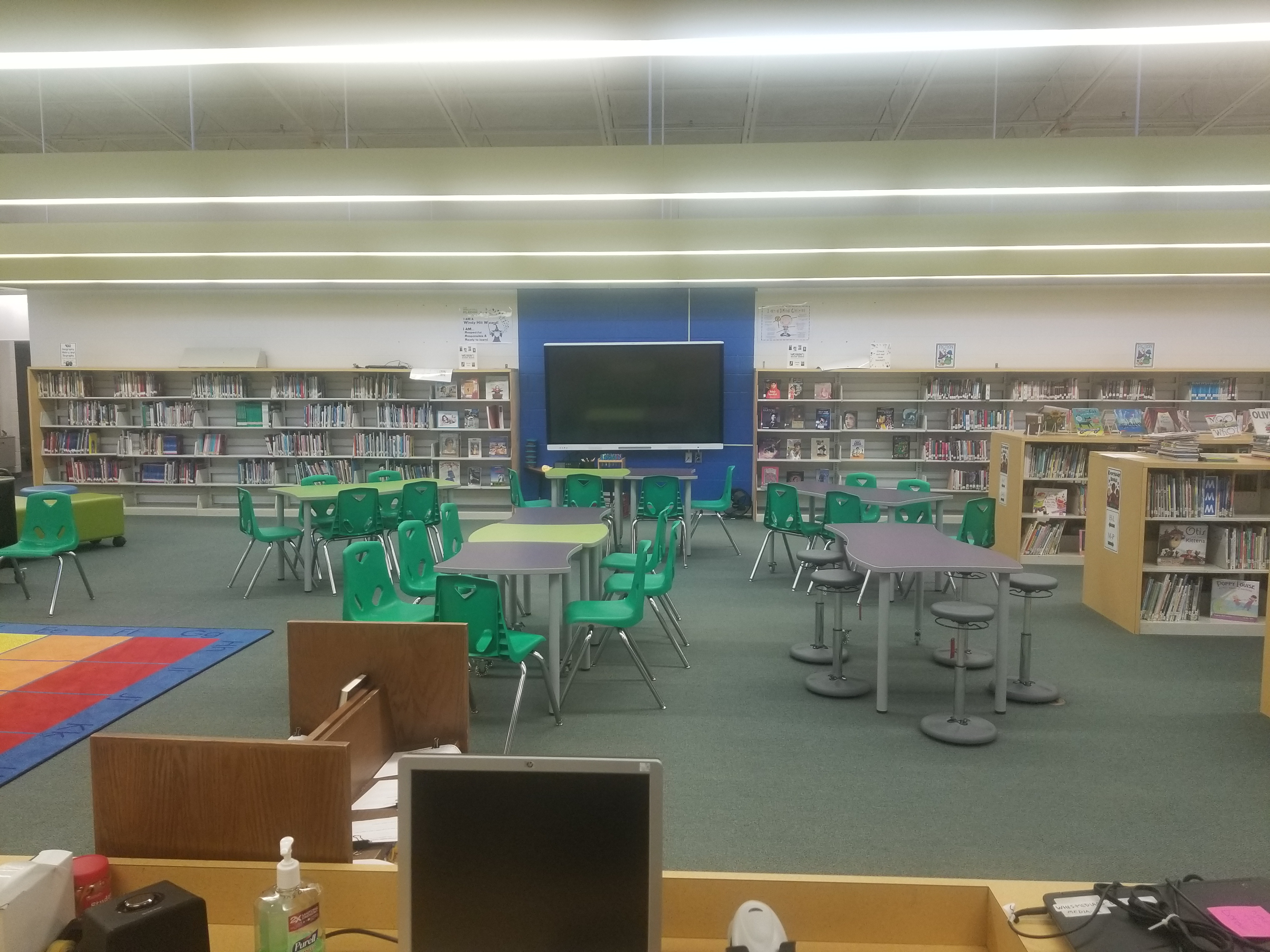 Library tables and new stools
