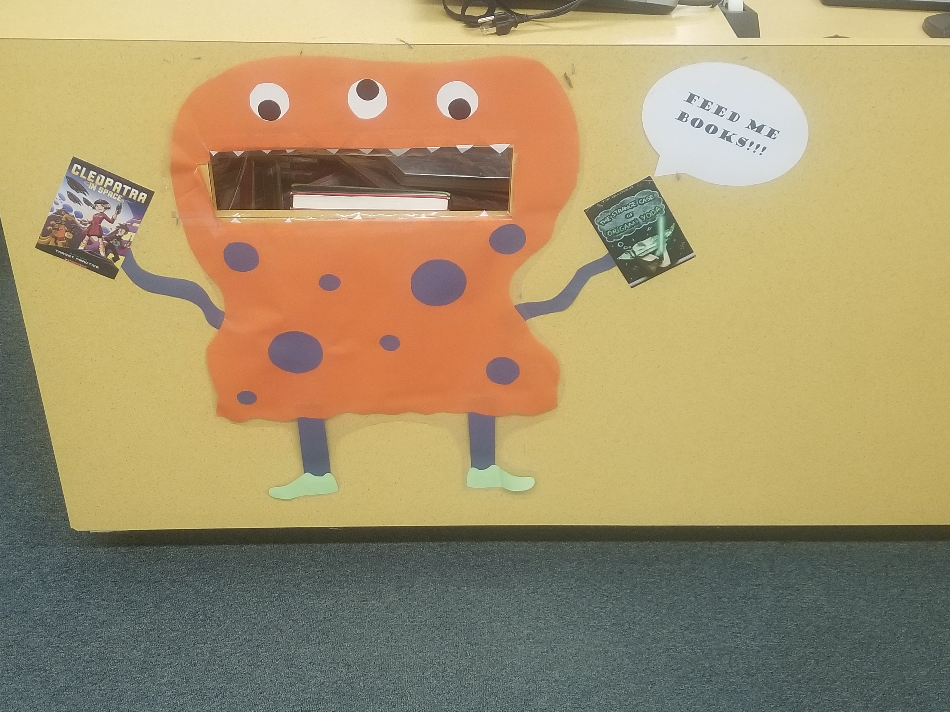 Book drop monster picture