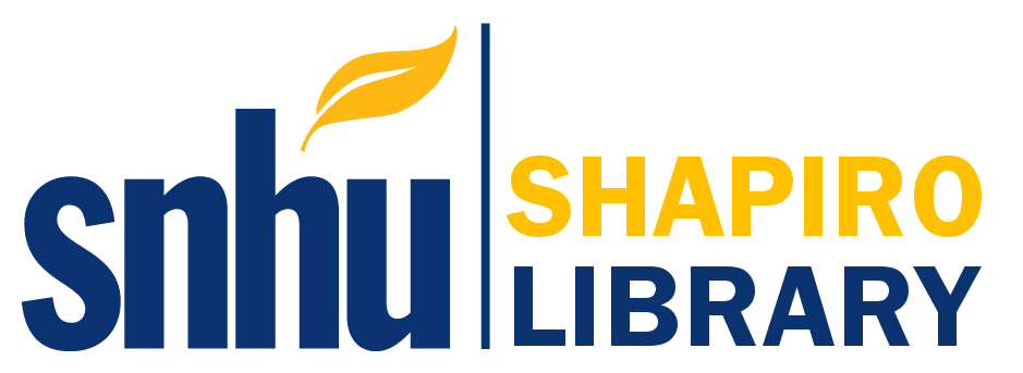 logo of the SNHU shapiro library