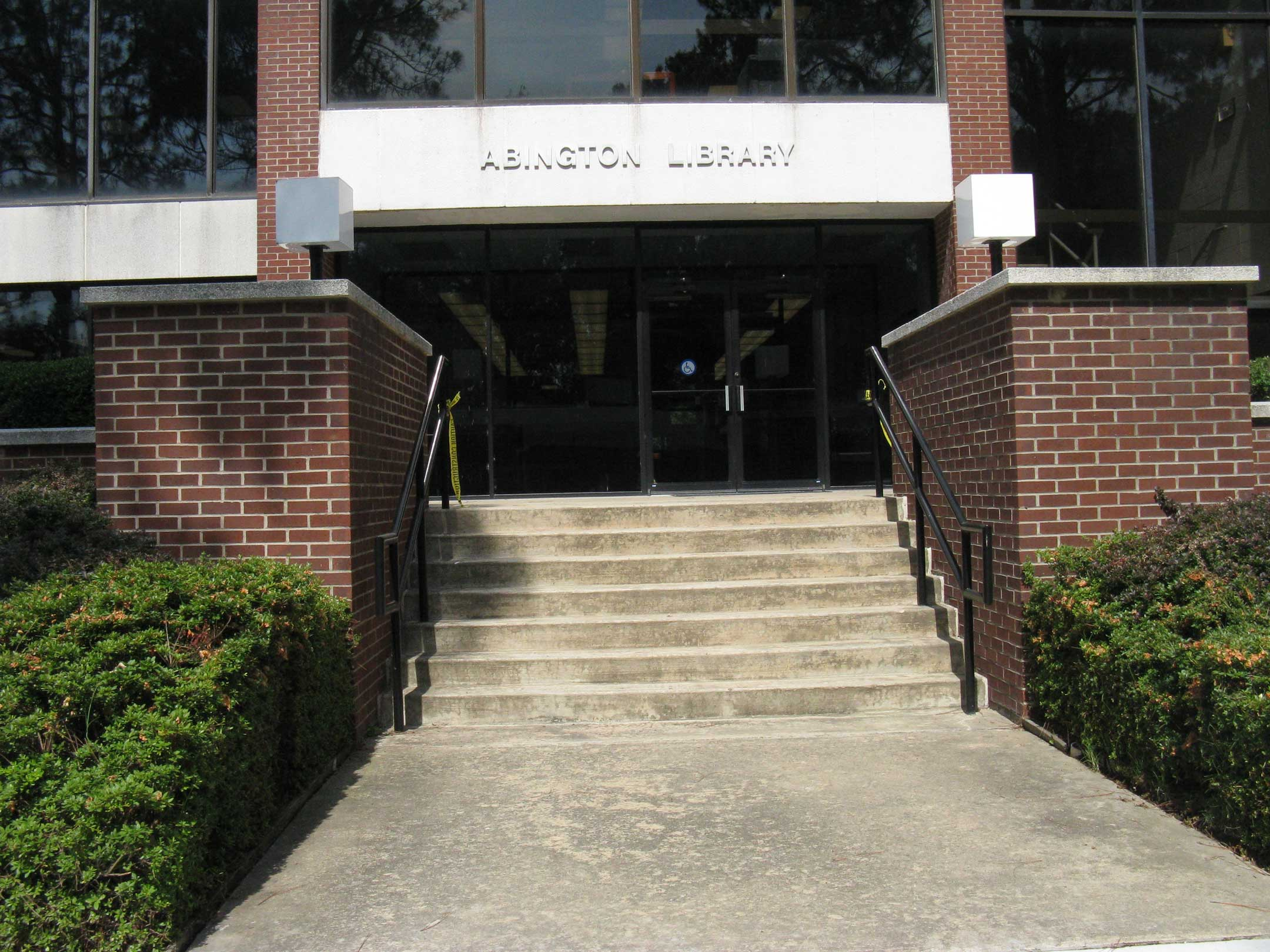 Abington Library Entrance