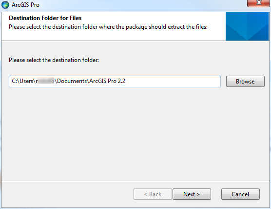 Choose the location where the installer will extract the files. The default location is usually appropriate.