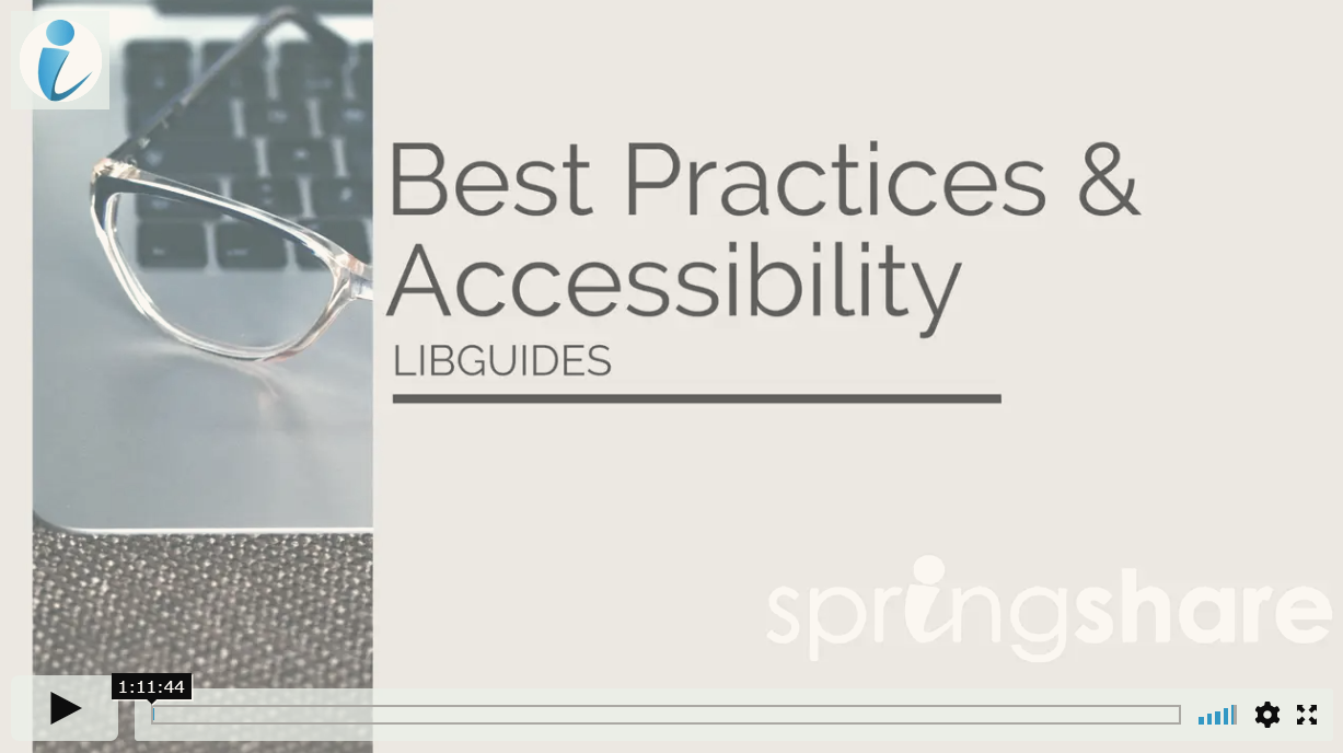 best practices and accessibility video