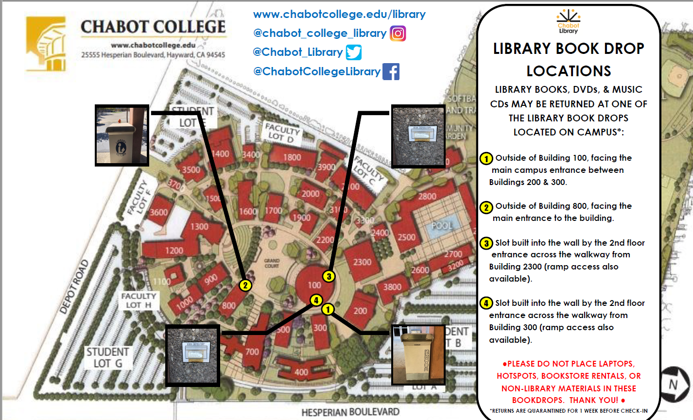 Library Book Drop Map